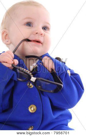 adorable baby executive