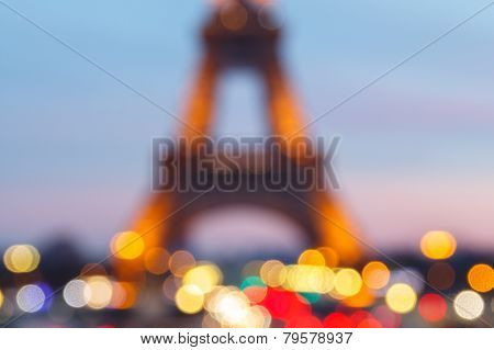 Paris. Eiffel Tower. Bokeh.