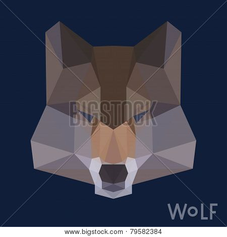 Polygonal Geometric Triangle Abstract Wolf Background
