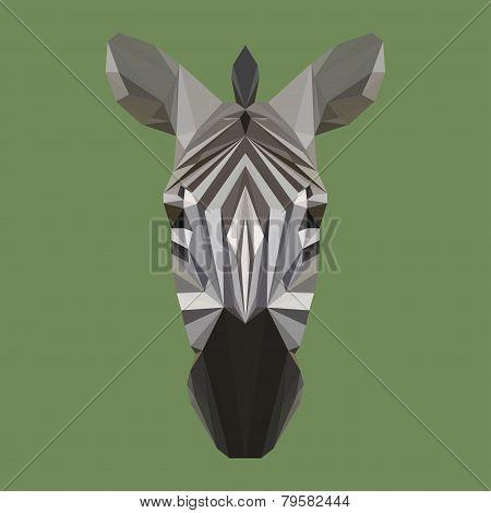 Abstract Geometric Polygonal Zebra Background