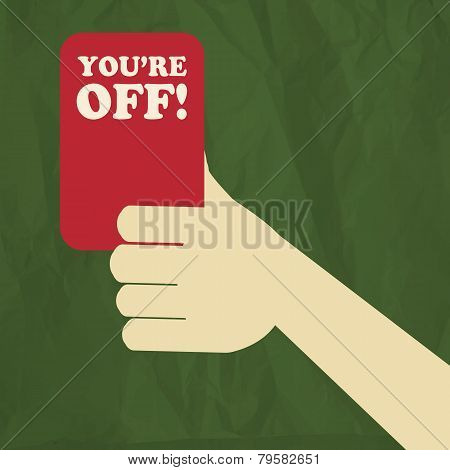Soccer referee red card