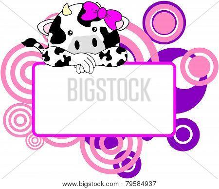 sweet girl cow cartoon singboard