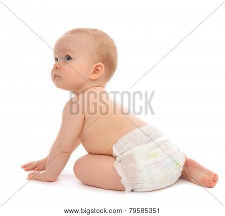 Infant Child Baby Toddler Sitting Crawling Backwards Happy Smiling