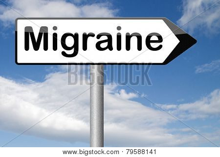 migraine acute or chronic headache need for painkiller or prevent pain  poster