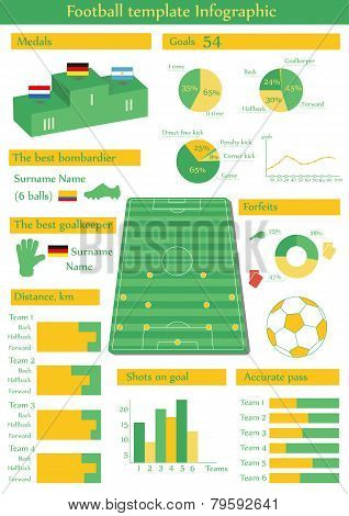 Vector illustration with football infographic