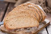 Fresh baked Loaf of Bread (as detailed close-up shot) poster