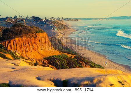 Encinitas Beach In California