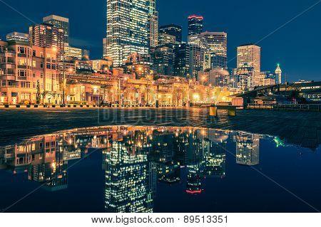 Seattle Skyline Reflections