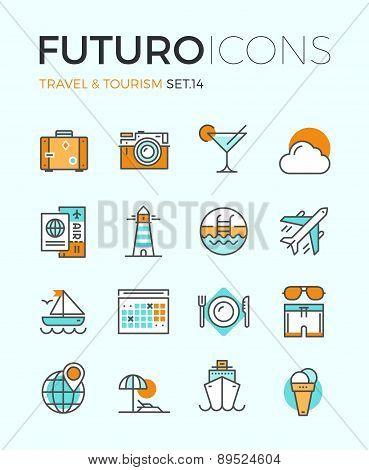 Travel And Tourism Futuro Line Icons