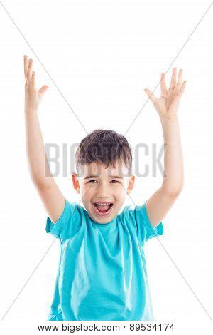 Happy Little Cute Boy