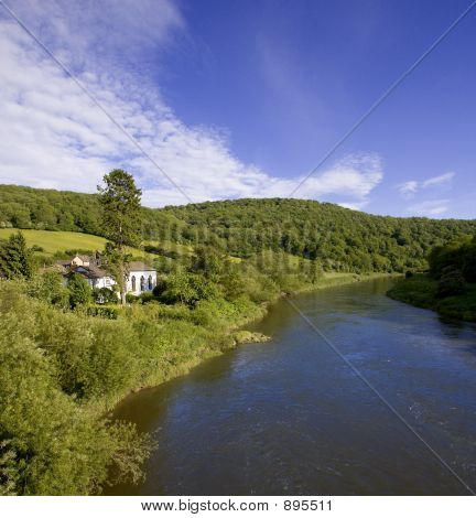 River Wye The Wye Valley Gloucestershire Monmouthshire Wales Eng