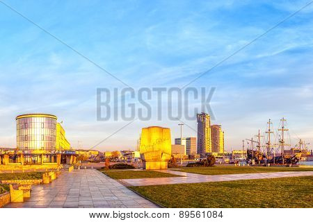 View Of The Port City Of Gdynia