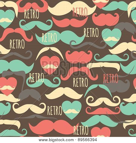 Retro vintage seamless pattern