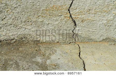Crack In Concrete Foundation & Floor