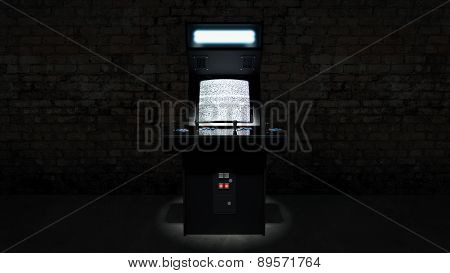 vintage arcade game machine