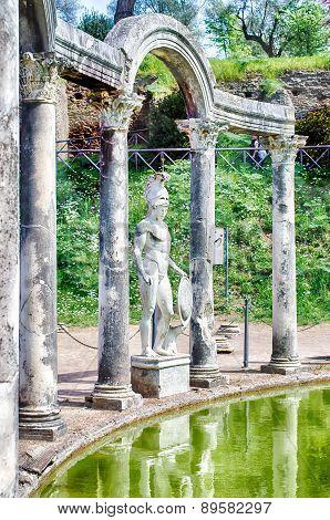 Greek Statue Of Ares, Inside Villa Adriana (hadrian's Villa), Tivoli, Italy