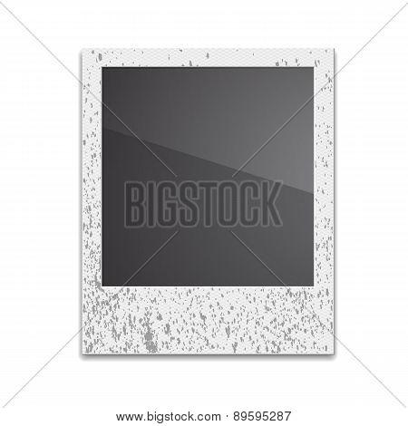Retro Photo Frame Polaroid  On White Background. Vector illustra