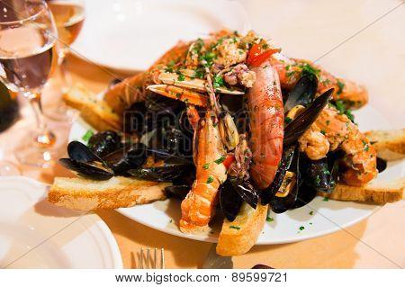 Huge Dish Of Seafood