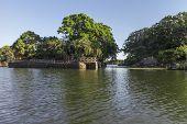 private island in lake of Nicaragua near Granada Nicaragua poster