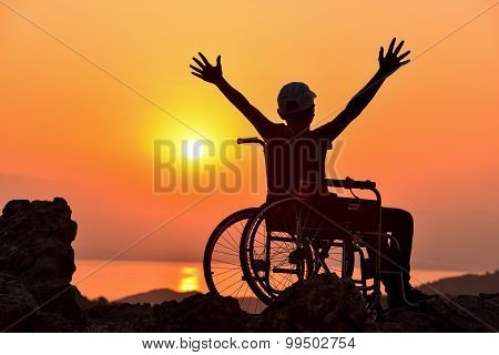 disabled man and freedom