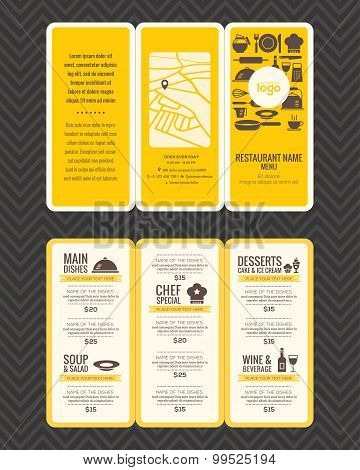 Modern Restaurant Menu Design Pamphlet Template