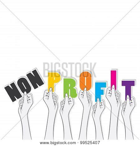 non-profit word banner concept design