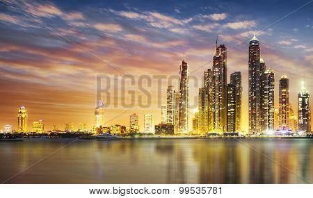 Dubai Marina During Twilight