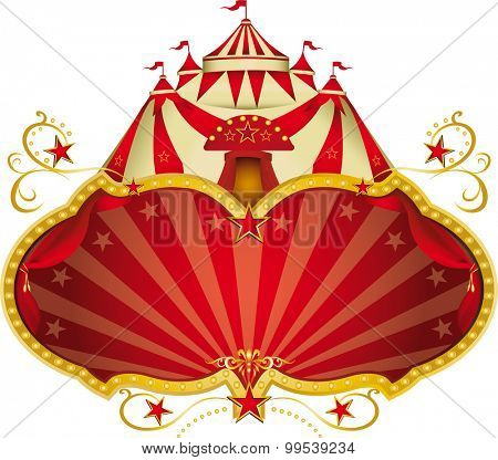 Magic circus big top. A circus frame with a big top and a large copy space for your message.