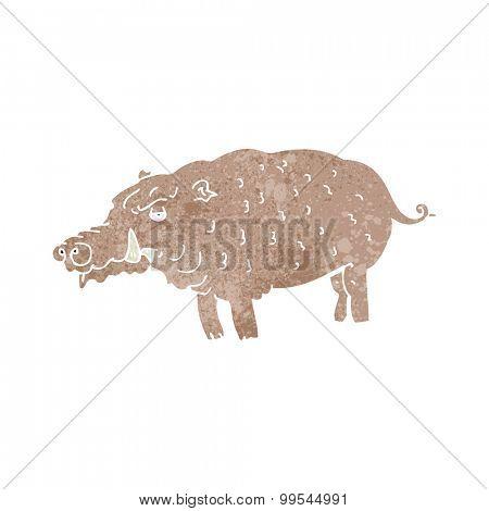 retro cartoon hog
