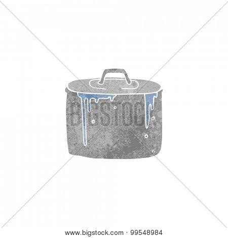 retro cartoon bubbling pan