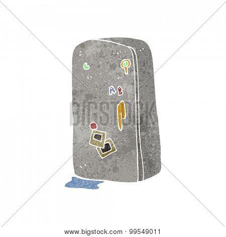 retro cartoon refrigerator