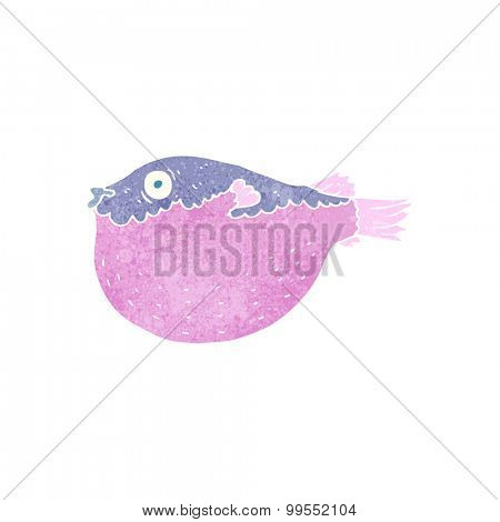 retro cartoon blowfish