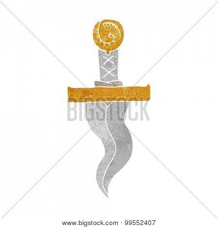 retro cartoon dagger