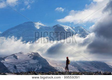 Hike on Mt Rainier