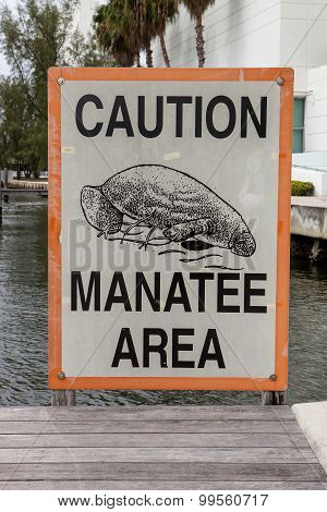 Caution Manatee Area