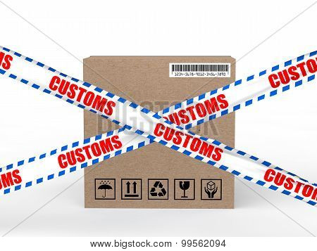 3d carton box with customs control