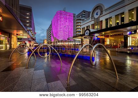 Adelaide city, Rundle Mall, Rundle Lantern light show