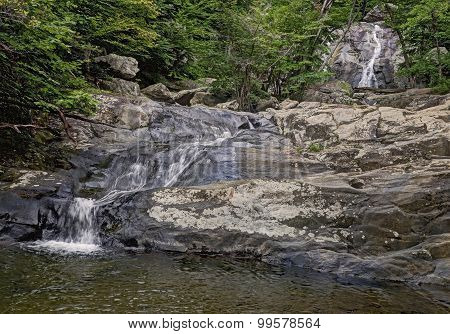 Lower Whiteoak Falls In Shenandoah National Park