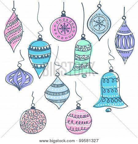 Christmas bells vector illustration
