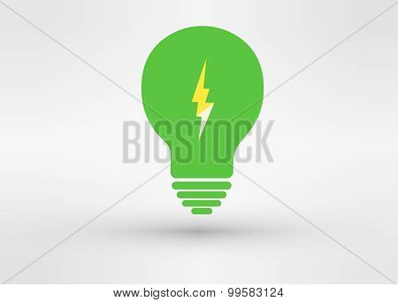 An Attractive Green Energy Vector Logo Symbol.