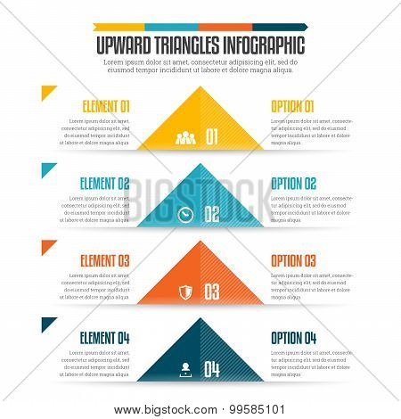 Upward Triangles Infographic