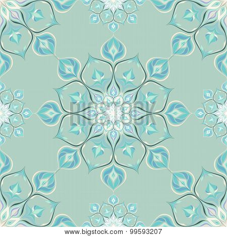 Colored mandala pattern with beautiful ornament