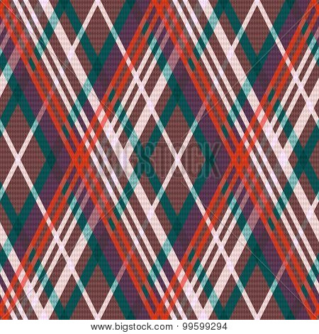 Multicolour Rhombic Seamless Pattern