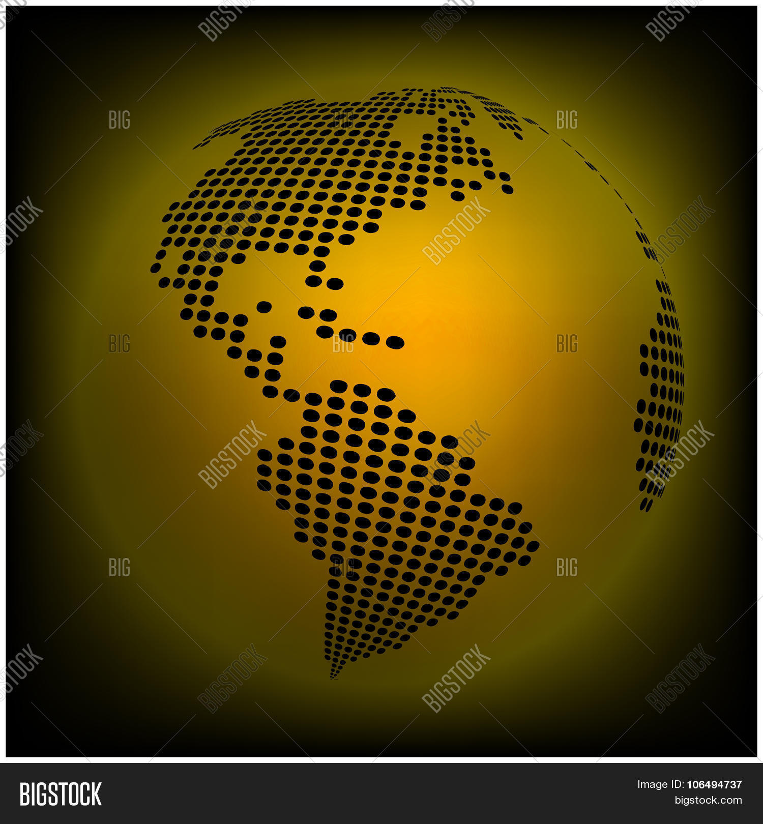 Globe earth world map abstract vector photo bigstock globe earth world map abstract dotted vector background orange yellow wallpaper illustration gumiabroncs Gallery