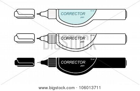 Stationery white corrector pen set