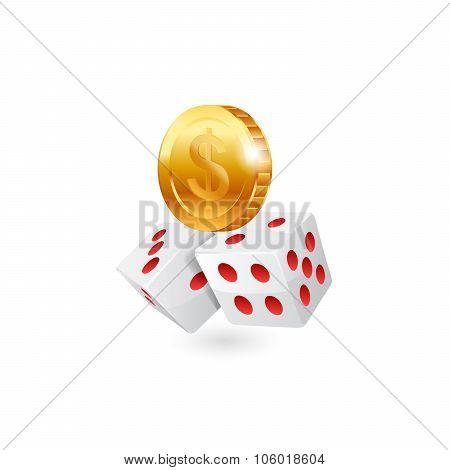 Casino icon. Vector