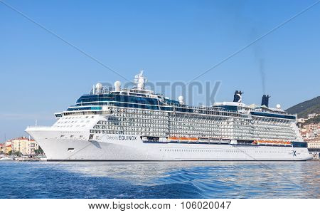 Celebrity Equinox Cruise Ship Moored In Ajaccio