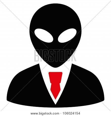 Alien Manager Flat Icon