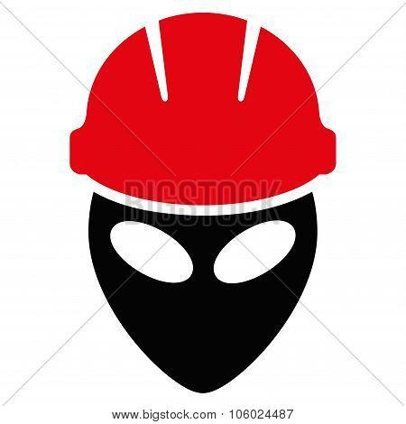 Alien Worker Flat Icon