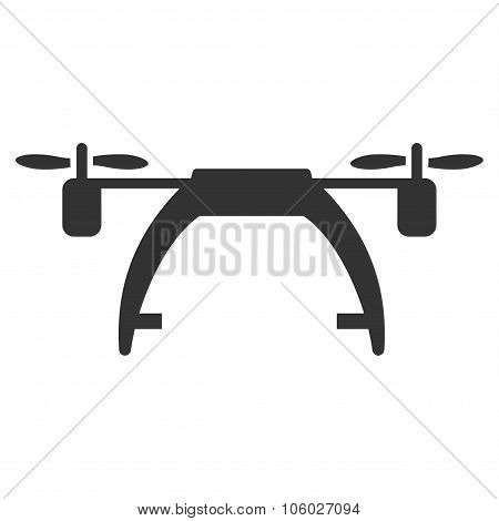 Drone Carrier vector icon. Style is flat symbol rounded angles white background. poster